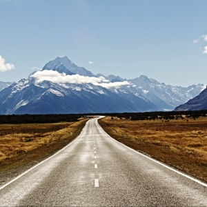 Photograph for sale of Aoraki-Mount Cook from the road to Mount Cook Village, South Island, New Zealand, available to buy