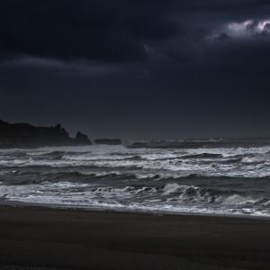 Lonely beach, Westland, New Zealand